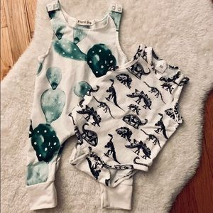 Other - Cactus Jumper and Dino Bubble Romper